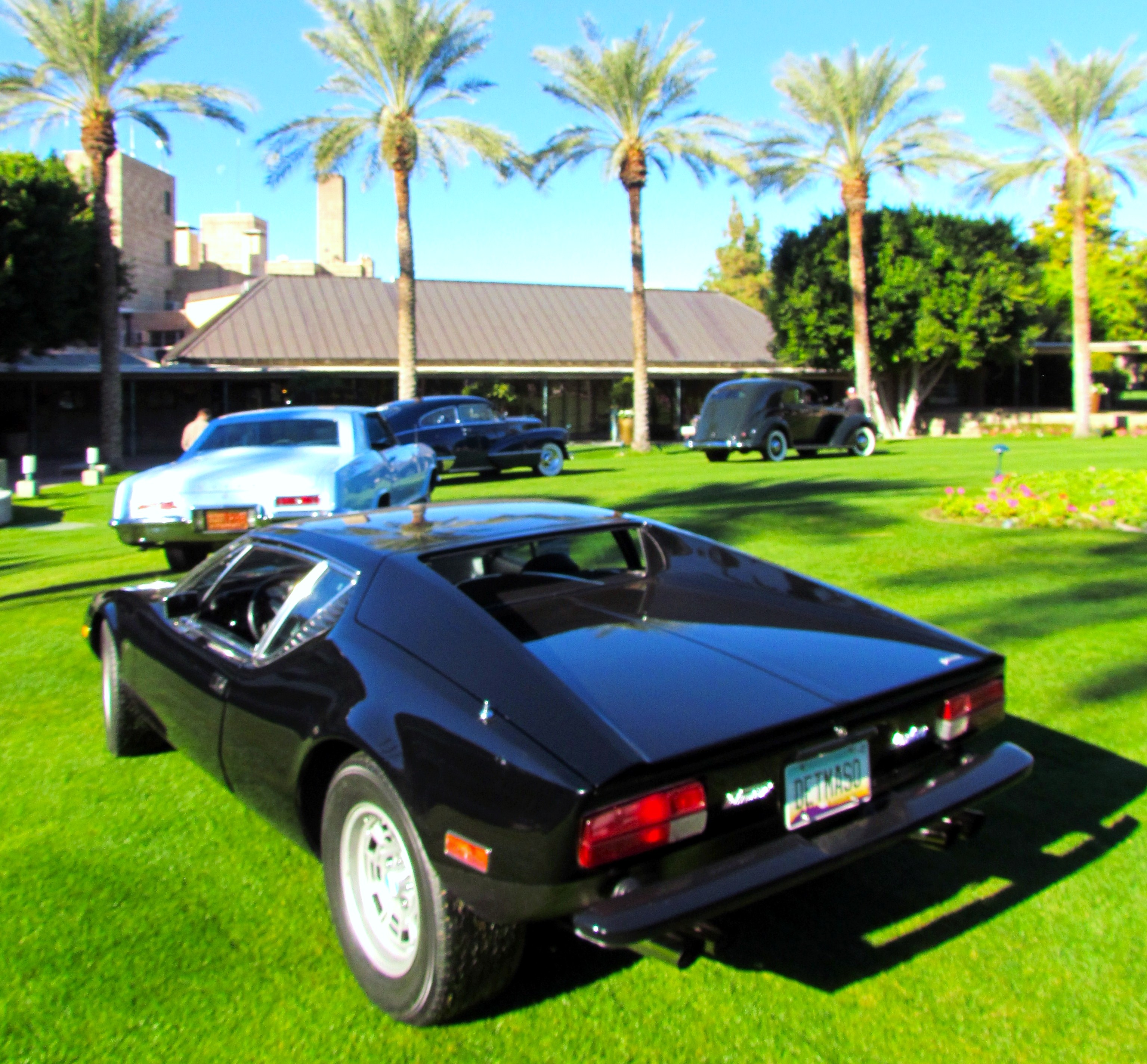 Vintage Cars On The Grass At The Biltmore In Arizona