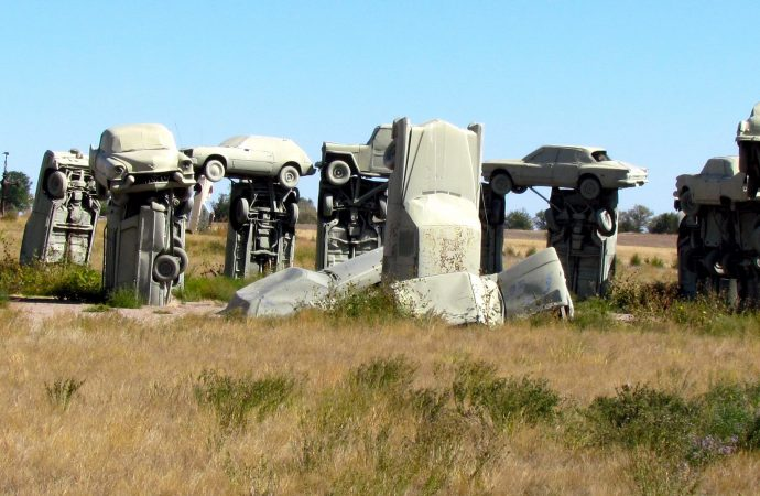 It's like Stonehenge, except made from cars