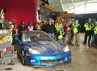 Update: First Corvette emerges from sinkhole, starts and is driven away