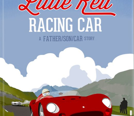 A boy, his dad, and an historic red racing car
