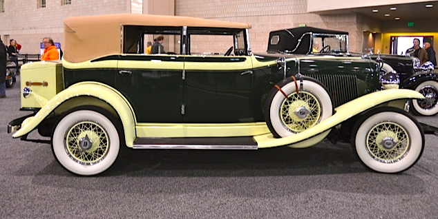 AACA displays a 1932 Auburn 8-100A Phaeton at Philly auto show | Photo by Larry Nutson