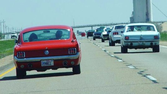Thousands of Mustangs will hit the open road in April. (Photo: Mustangs Across America)