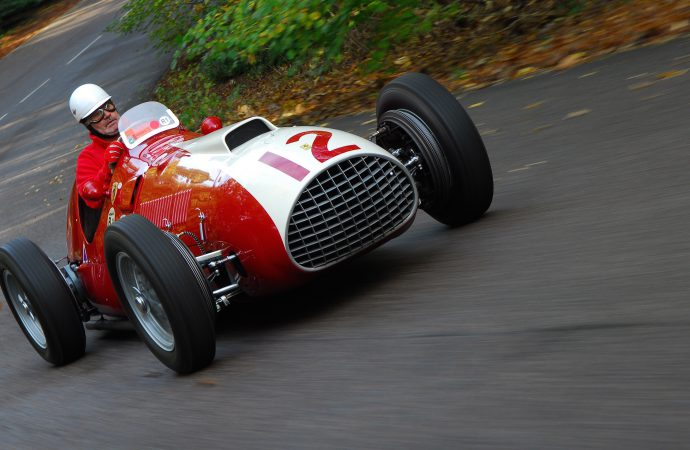 Italian cars show and go at UK's Brooklands circuits