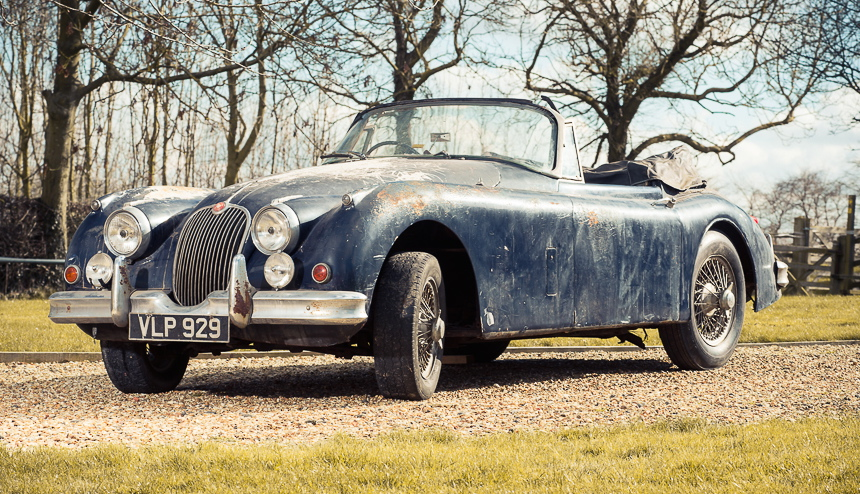Barn-found 1958 Jaguar XK150 drop top | Silverstone Auctions photos