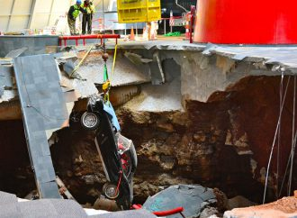 Third Corvette freed from sinkhole
