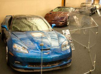 Corvette museum puts sinkhole survivors on display