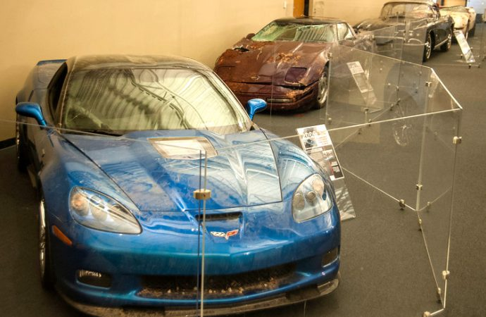 Corvette museum puts sinkhole survivors on display