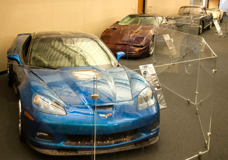 Sinkhole survivors on display | National Corvette Museum photos