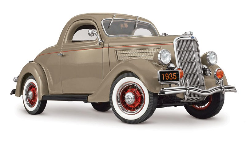The final die-cast car from Danbury Mint was a limited-edition model of a 1935 Ford Deluxe | Danbury Mint