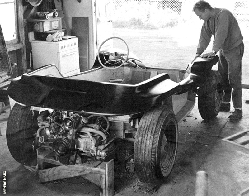 Bruce Meyers shaping the first Manx in 1964 | Historic Vehicle Association