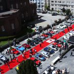California Mille cars displayed in front of the Fairmont Hotel on April 26
