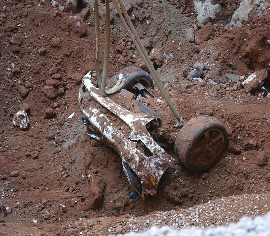 1.5 Millionth car was buried in dirt and rubble