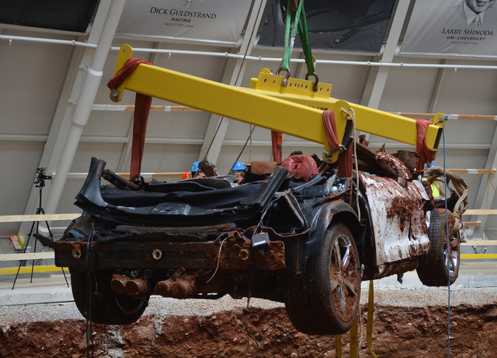 1.5 Millionth Corvette emerges from sinkhole | National Corvette Museum photos