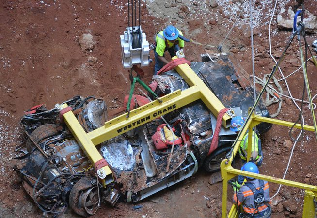 Worst fears proving true as another Corvette emerges from sinkhole