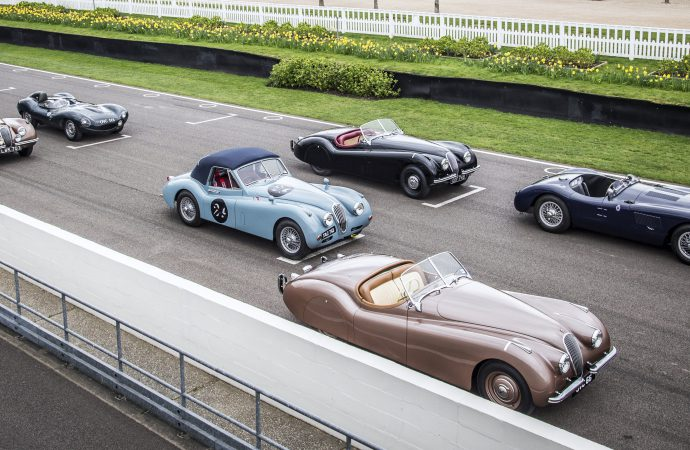 Famous Jaguar sports cars, racers entered in Mille Miglia