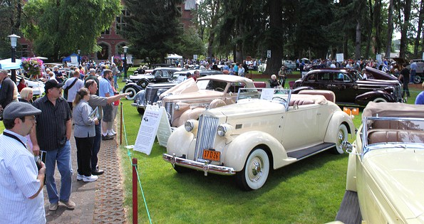 Recent scene at the Forest Grove Concours in Oregon | Forest Grove Concours d'Elegance