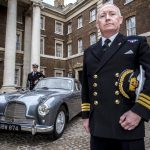 1- Commander Paul Haines with colleague_Commander Pat Douglas at the unveiling of the _real Bond car__at Ian Fleming's old office