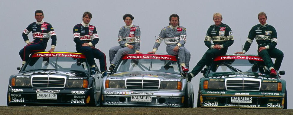 The Mercedes historic DTM entries and drivers
