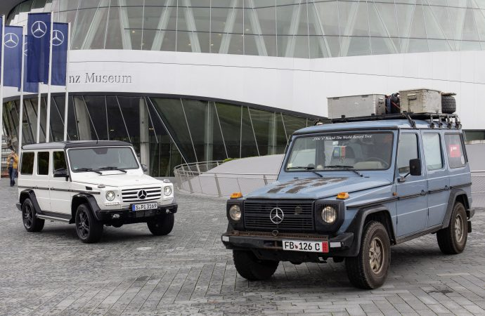 After 215 countries and 559,000 miles, 'Otto' goes into the Mercedes museum