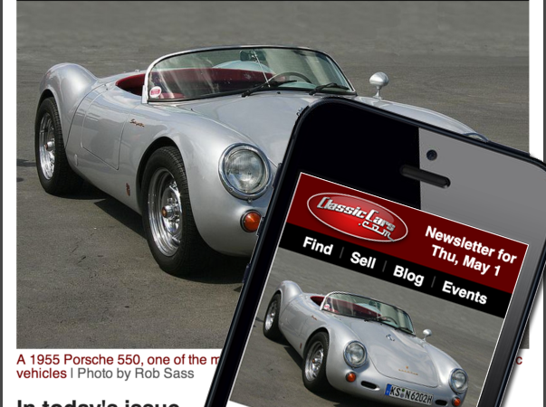 An all-new ClassicCars.com newsletter experience