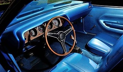 The 'Cuda interior was authentically restored | Mecum Auctions