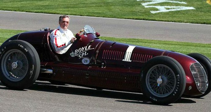 1938 Maserati takes lap at Indy, honors in U.S. archive