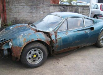 Rusted-out 'barn-find' Ferrari Dino breaks bank