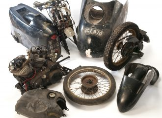 1955 Vincent Black Prince motorcycle scores record auction price despite being in pieces