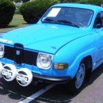 Saab rally car