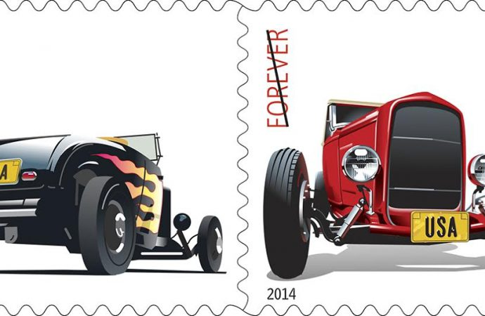 Petersen Museum hosts hot rod stamps dedication