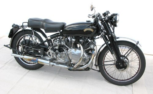 The 1952 Vincent Rapide is a highly desirable sport bike |Coys