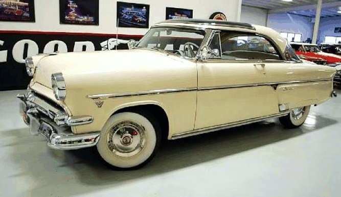 The handsome 1954 Ford Skyliner is described as a low-mileage survivor 'in darn good shape.'
