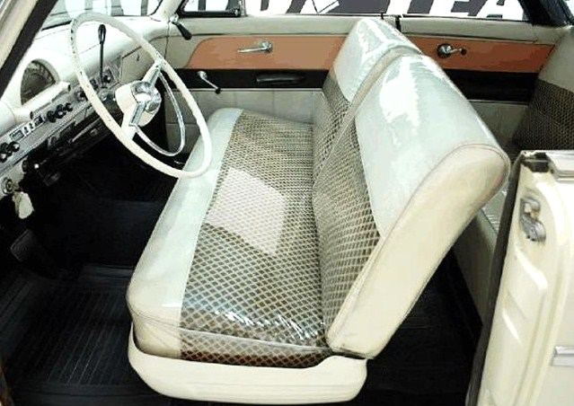 Plastic seat covers (remember those?) still protect the upholstery.