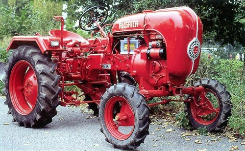 A 1955 Allgaier tractor is among the Porsche entries | Coys