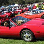 (23) A sea of Ferrari 308s and 328s