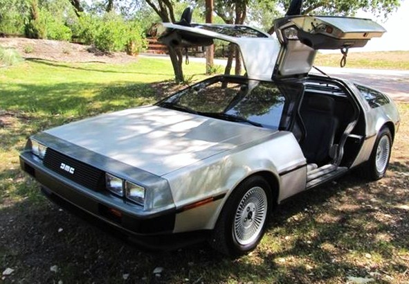 Gullwing doors and stainless-steel body panels make the DeLorean DMC-12 very distinctive