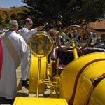 Blessing of the Pope Harford Model 31 at Carmel Mission Classic #190-Howard Koby photo
