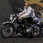 Danny Sullivan wins award for his rare Vincent motorcycle #491-Howard Koby photo