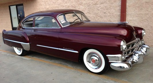 lassic beauties such as this 1949 Cadillac fastback will be available | Russo and Steele