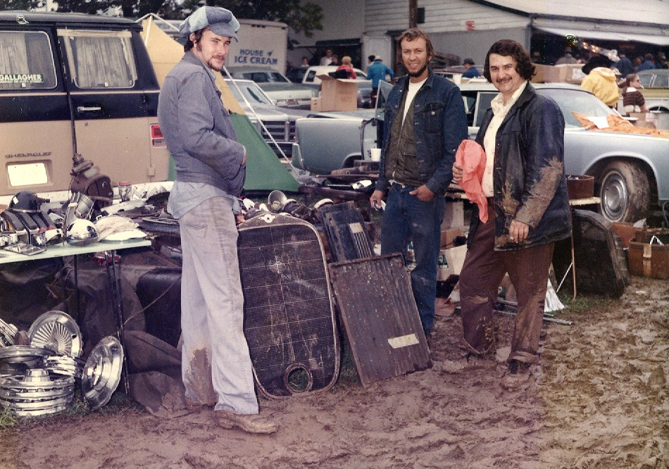Muddy bell bottoms at the rainy 1976 Carlisle swap meet | Carlisle Events
