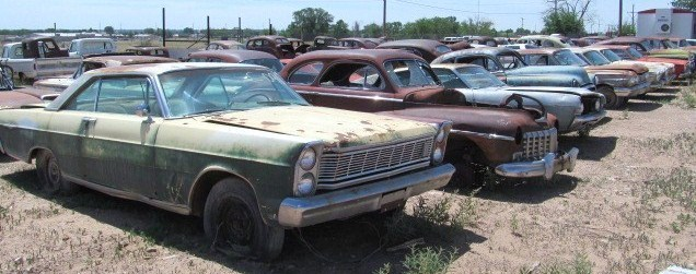 Some of the inventory at the 20-acre salvage yard | A1 Auto Salvage