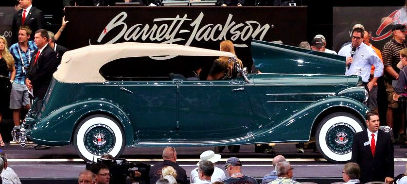 A classic 1936 Packard Eight Phaeton a top seller | Barrett-Jackson