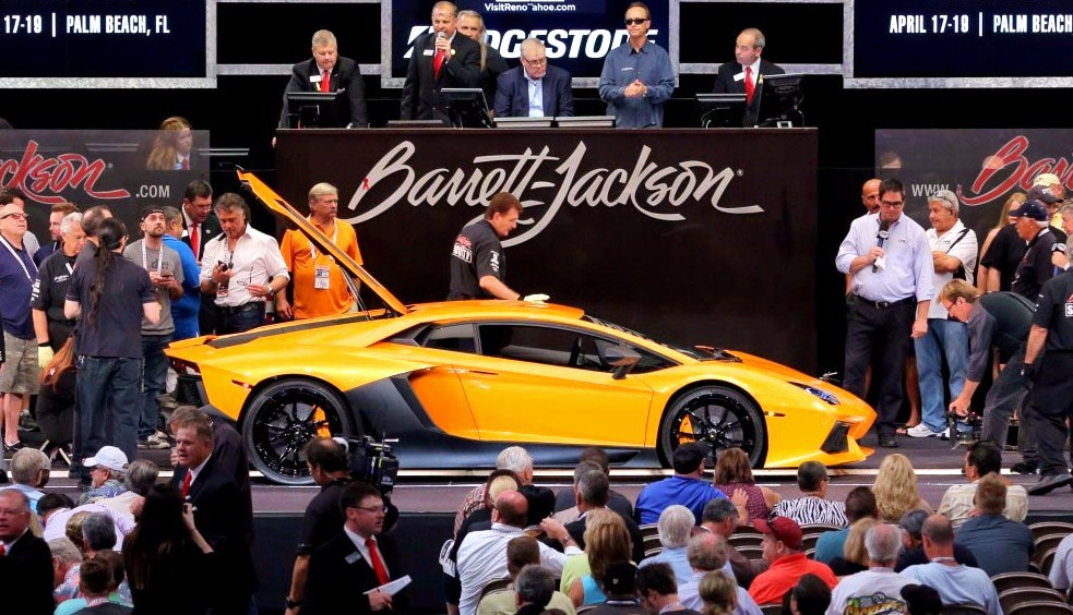 A 2013 Lamborghini Aventador sold for $440,000, the highest non-charity sale for Las Vegas | Barrett-Jackson