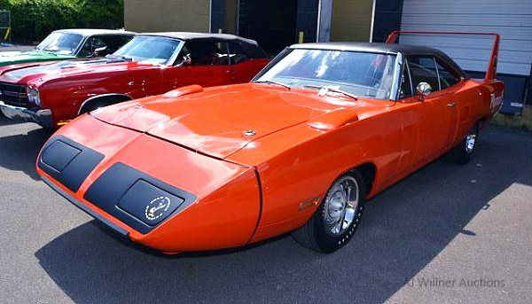 A 1970 Plymouth Road Runner Hemi Superbird is among the seized cars | AJ Willner Auctions