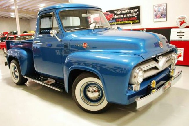 The 1955 Ford F100 pickup was tastefully constructed as a period resto-rod