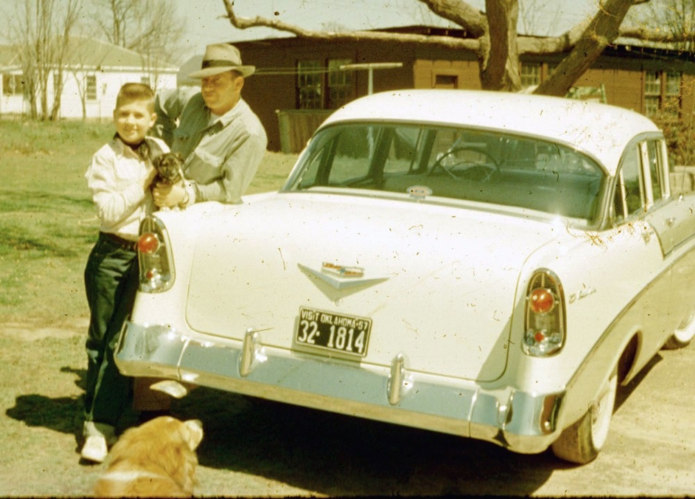 Me, age 10, with Dad (Robert Brown) and the only new car he ever bought | Brown archives