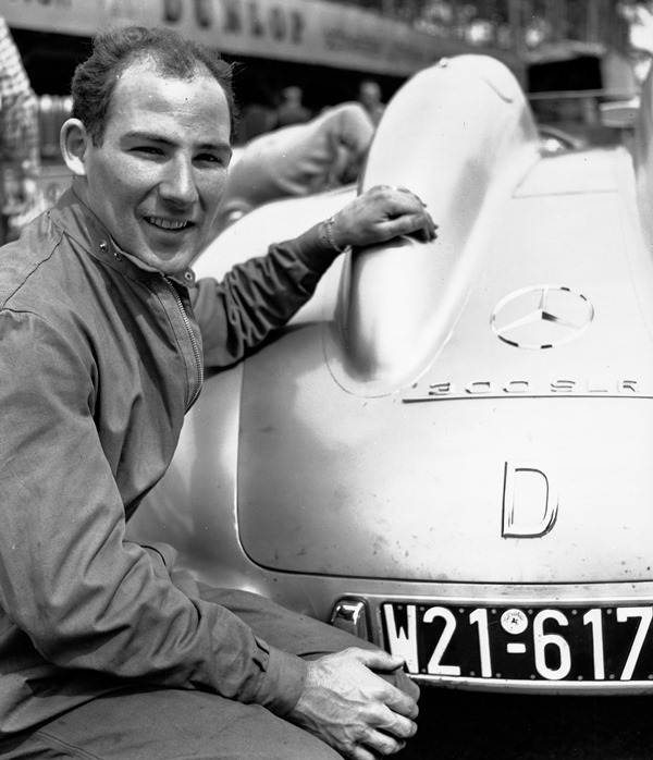 Moss with the 300SLR at the 1955 Mille Miglia | Mercedes-Benz