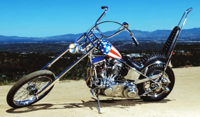 The Captain America chopper from 'Easy Rider' is an iconic Hollywood image | Profiles in History