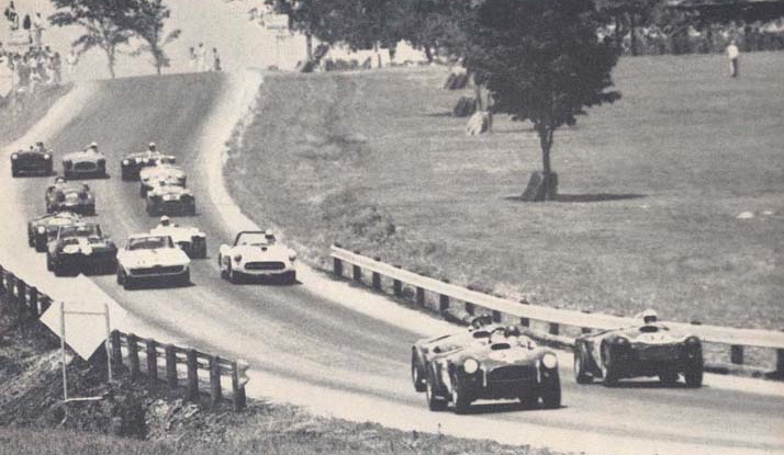 Dave MacDonald and Ken Miles put Shelby Cobras into the lead at 1963 Lake Garnett race | chuckbrandt.com