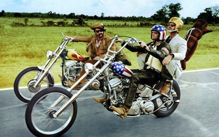 On the road in 'Easy Rider,' (from left) Dennis Hopper, Peter Fonda and Jack Nicholson | Columbia Pictures